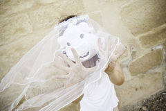 Pig bride mask Royalty Free Stock Photos