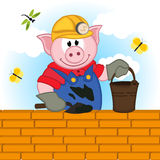Pig builder Royalty Free Stock Photos