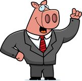 Pig Businessman Stock Photography