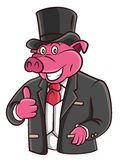Pig Businessman Royalty Free Stock Photography