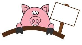 Pig butchering or delicatessen. Illustration stock illustration