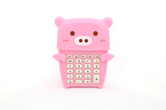 Pig calculator Stock Images