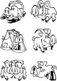 Pig Calendar stock illustration
