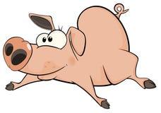 pig cartoon Royaltyfri Bild