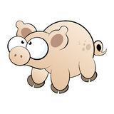 Pig cartoon character Stock Photo