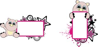 Pig cartoon copyspace. In vector format very easy to edit royalty free illustration