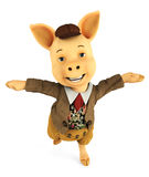 Pig cartoon dancing Stock Photo