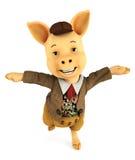 Pig cartoon dancing Stock Photo