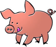 Pig cartoon illustration Royalty Free Stock Images
