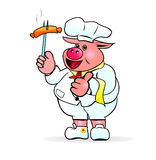 Pig Chef Stock Images