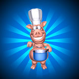 Pig chef Stock Photography