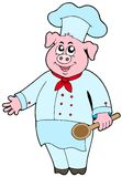 Pig chef Stock Photo