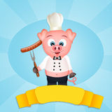 Pig chef Royalty Free Stock Images