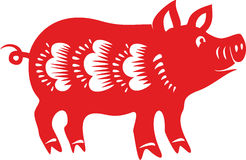 Pig , Chinese lunar horoscope. Royalty Free Stock Images