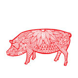 Pig- Chinese zodiac Royalty Free Stock Images