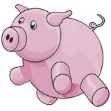 Pig with clipping path. Illustration with clipping path Royalty Free Stock Image