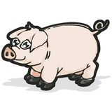 Pig with clipping path. Illustration with clipping path Royalty Free Stock Photo