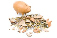Pig Coin Bank Stock Images