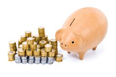 Pig Coin Bank Stock Image