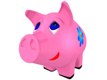 Pig a coin box Royalty Free Stock Photo