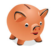 Pig a coin box. The vector image of a pig-coin box Royalty Free Illustration