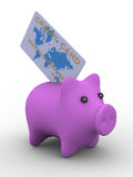 Pig a coin box. Stock Photography