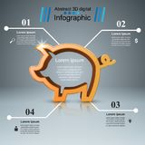 Pig coin - business infographic. Vector eps 10 Royalty Free Stock Image