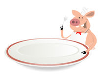 Pig Cook. Illustration of a funny cartoon pig cook vector illustration