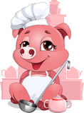 Pig cook Stock Photo