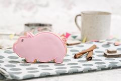 Pig cookies Royalty Free Stock Images