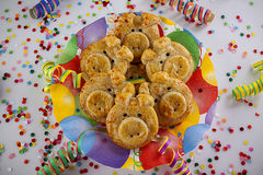 Pig cookies for the new year Stock Photos