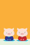 Pig couple Stock Photography