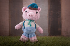 Pig crochet Stock Images