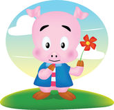 Pig cute Royalty Free Stock Image