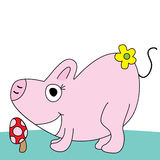 Pig cute Royalty Free Stock Photography