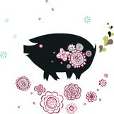 Pig design Stock Image