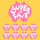 Piggy bank save banner Stock Photography