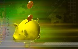 Pig and dollar Royalty Free Stock Image