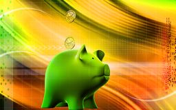 Pig and dollar Stock Photography