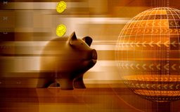Pig and dollar Stock Images