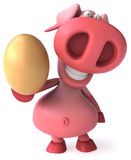 Pig and egg Royalty Free Stock Image