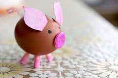 Pig egg Royalty Free Stock Images