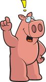 Pig Exclamation Stock Photography