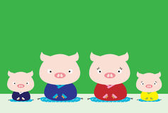 Pig Family Royalty Free Stock Photography