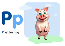 Pig farm animal with alphabet Royalty Free Stock Photo