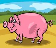 Pig farm animal cartoon illustration Royalty Free Stock Photography