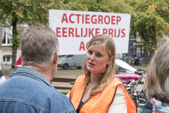 Pig farmers ask in The Hague with a publicity campaign highlighting the difficult situation of the pig industry. Stock Photography