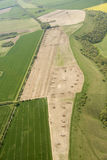 Pig farming from the air. Royalty Free Stock Photography