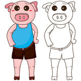 Pig fat coloring Stock Image