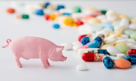 Pig flu remedy Stock Photo